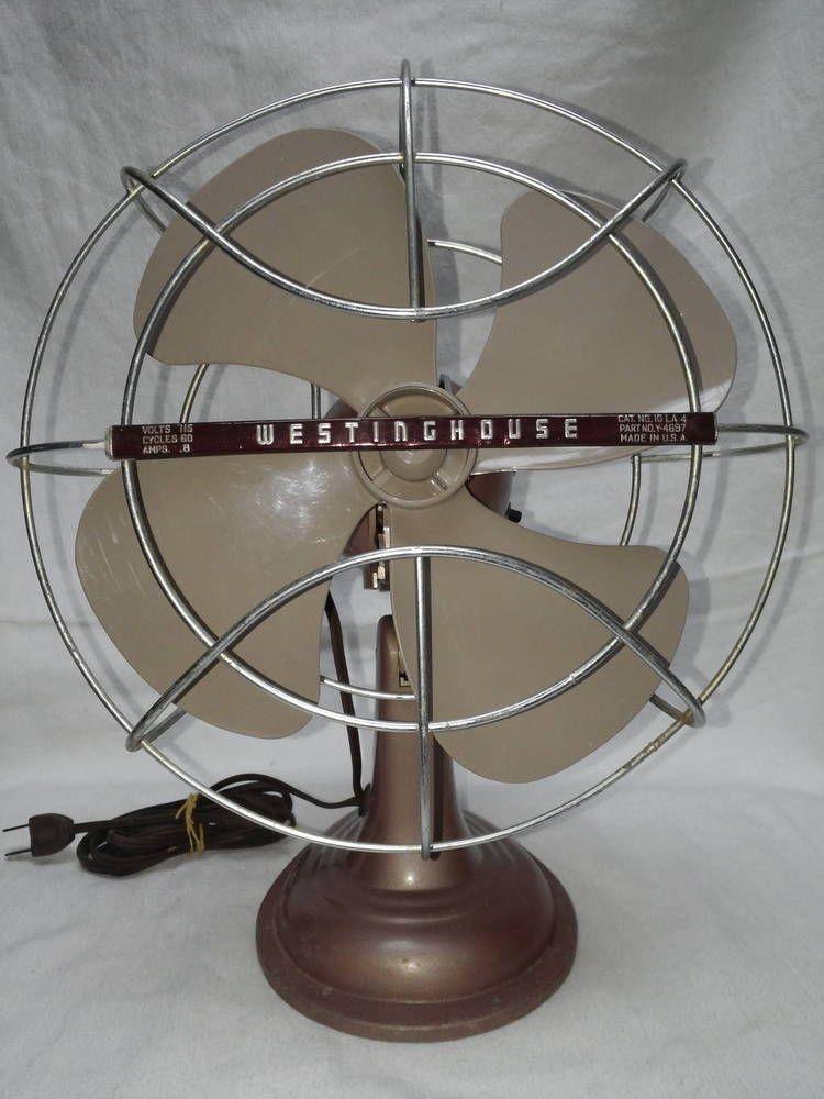For Vintage 1950 S La4 Westinghouse 10 Blade Oscillating Table Fan