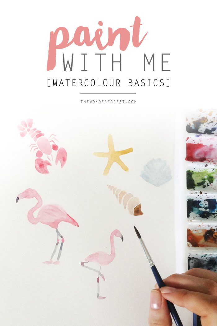 Paint With Me Watercolour Basics Tuto Aquarelle Idees D