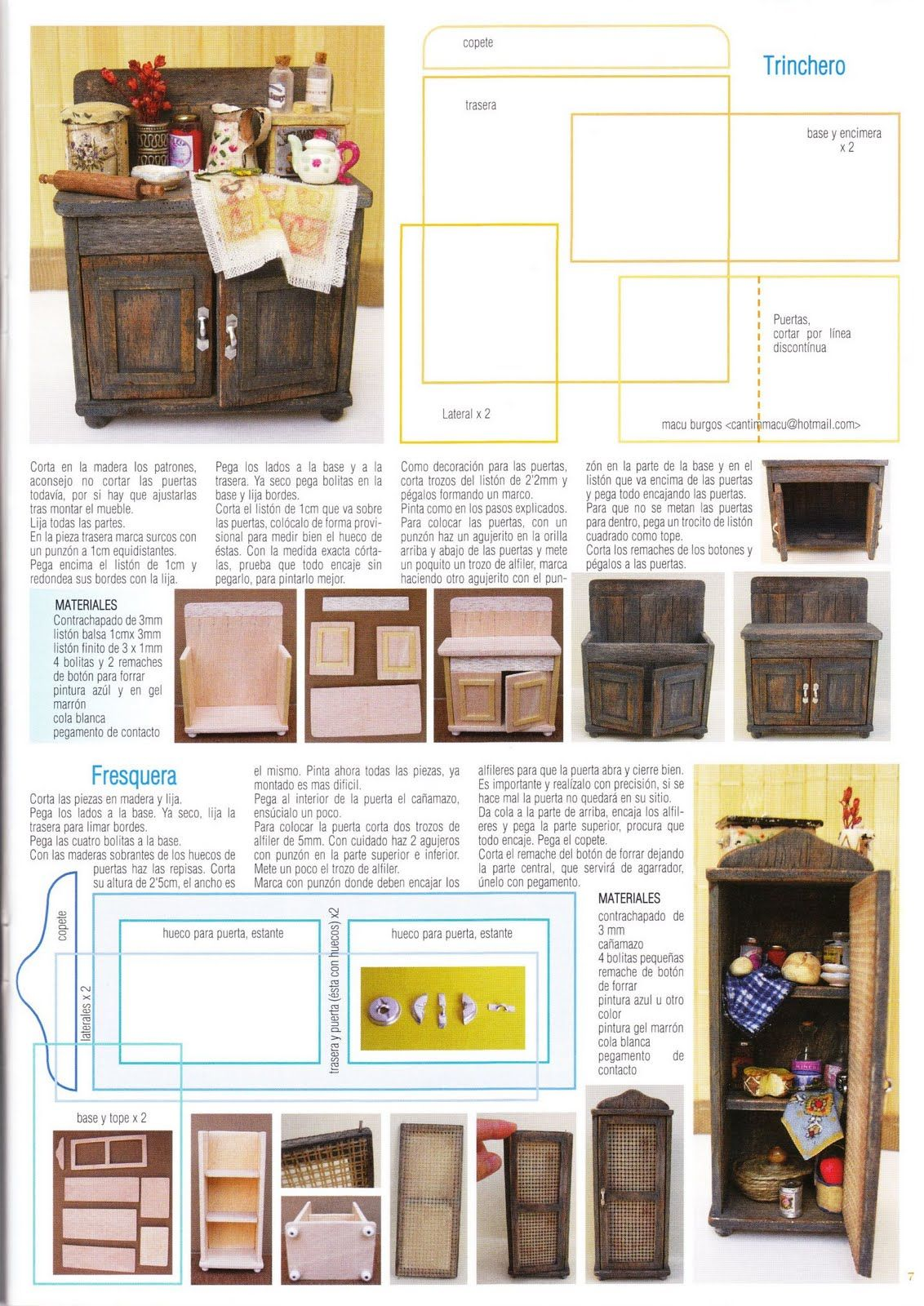 mis rincones en miniatura publicaciones en la revista miniaturas tuttos de cantimpalo. Black Bedroom Furniture Sets. Home Design Ideas