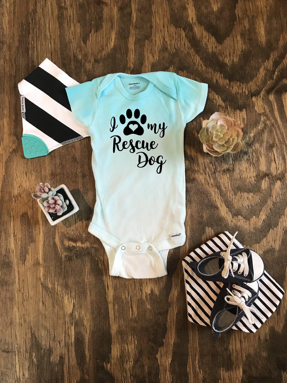 26f8e5d84 I Love My Rescue Dog Custom Ombré Onesie, dog onesie, shelter dog onesie,  my sibling has paws, mixed breed onesie, mutt onesie, pawprint by  MillennialMamas ...