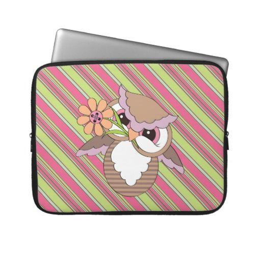Cartoon Owl 15in laptop sleeve macnpc