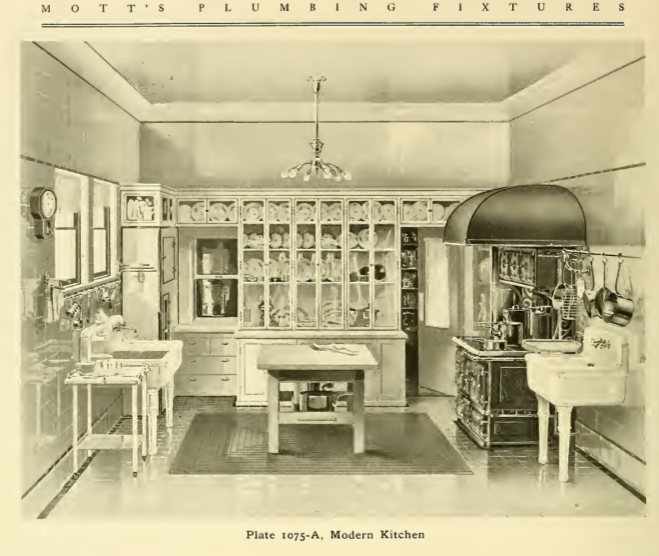 Modern Victorian Kitchen: Modern Kitchen From Mott's 1907 Plumbing Catalog.