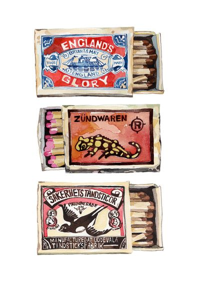 Matchboxes : Holly Exley Illustration