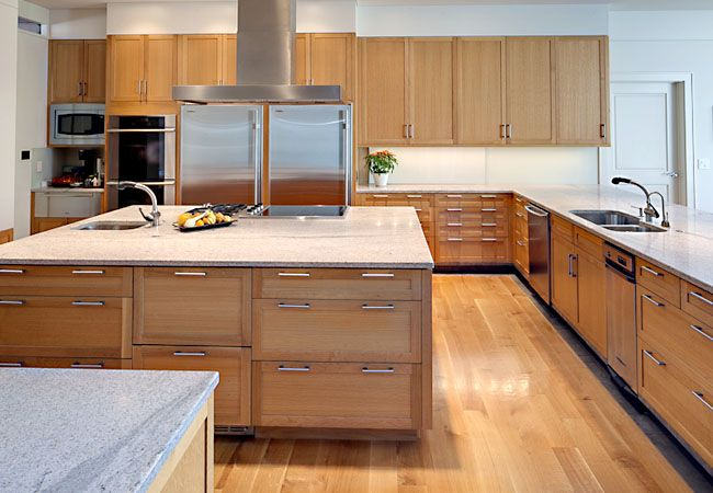 quarter sawn white oak kitchen Polivka Casework Florida house