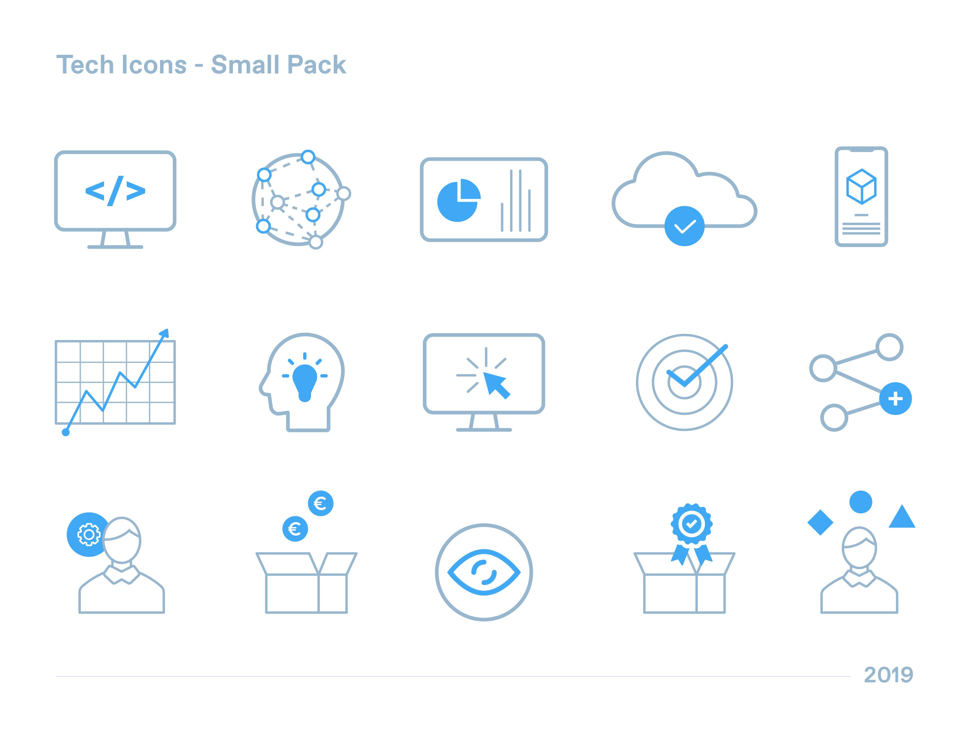 Tech Icons Small Pack Tech Branding Icon Tech Startups