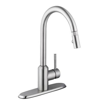 Glacier Bay Axel Single Handle Pull Down Sprayer Kitchen Faucet In
