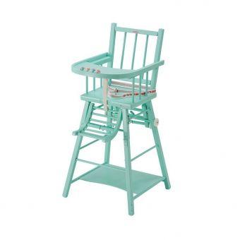 Chaise Haute Transformable Marcel Laque Mint Combelle Pour Chambre Enfant Chaise Haute Chaise Haute Design Chaise Haute Bois