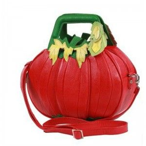 Fashion Unique Pumpkin Shaped Handbags With Chain Strap With
