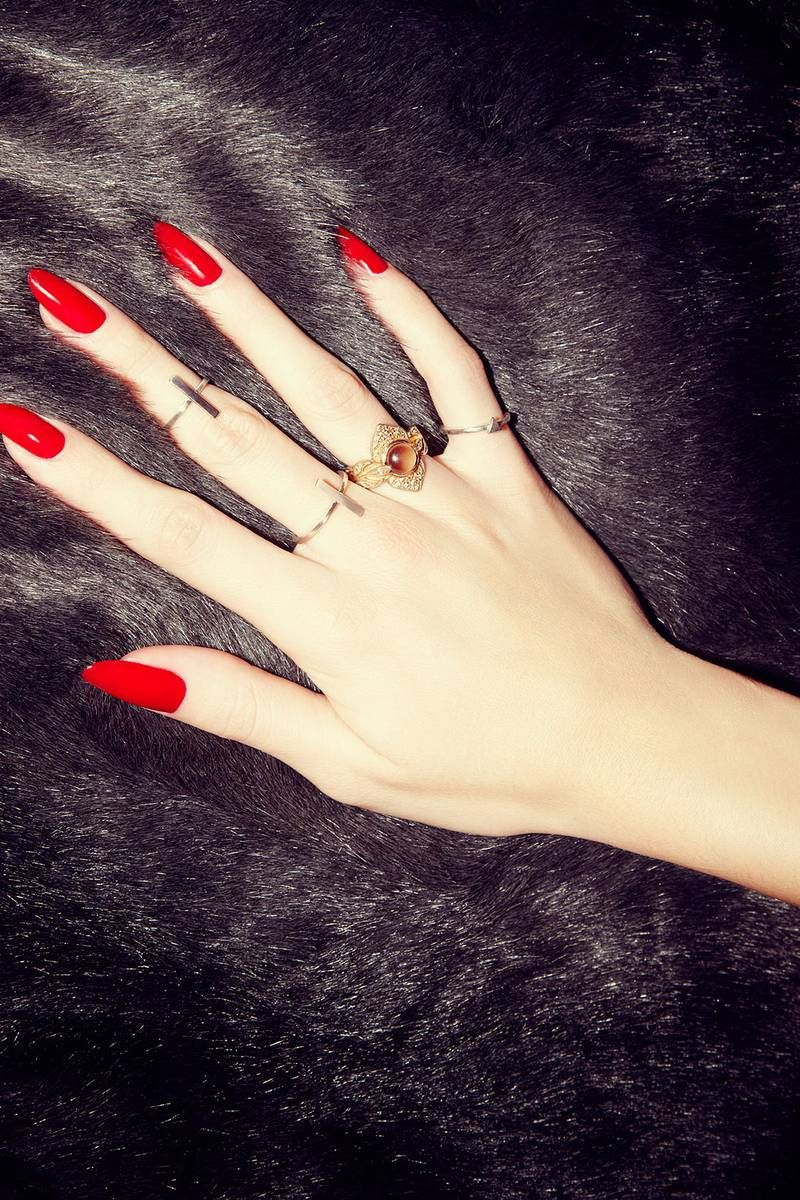 Red Nails | Red nails, Shapes and Manicure
