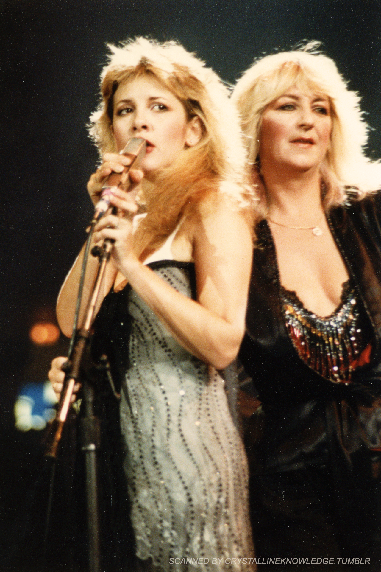 """""""Stevie and Christine photographed at the US Festival in"""