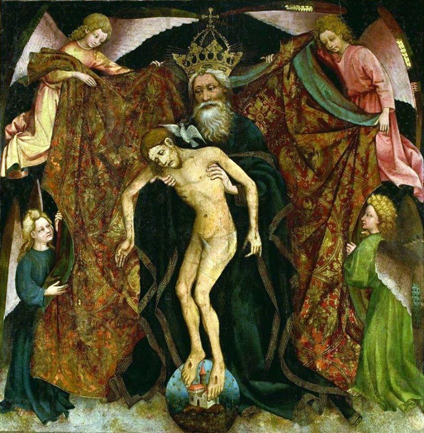 Holy Trinity (Pietas Patris), anonymous (circle of Master Francke), 1420-1440.