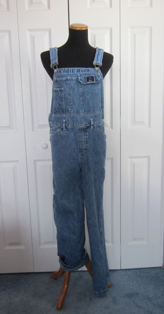 a2411a0c10b Vintage Denim Overalls CK Calvin Klein Bib by GroovyGirlGarb