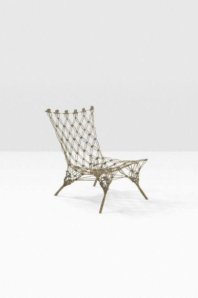 Knotted Chair Marcel Wanders 1963 Cette Chaise A Ete Realisee Grace Aux Noeuds Realises Avant Ajout De Resine