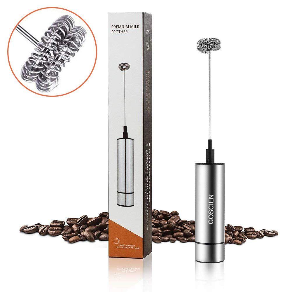 Amazon Goscien ミルク泡立て器 ハンドヘルド 電動牛乳 泡立て器 卵 コーヒー ミルク ミニコーヒー攪拌機 Mfb1501b ミルク泡立て器 オンライン通販 Eyeliner Kitchen Tools Beauty