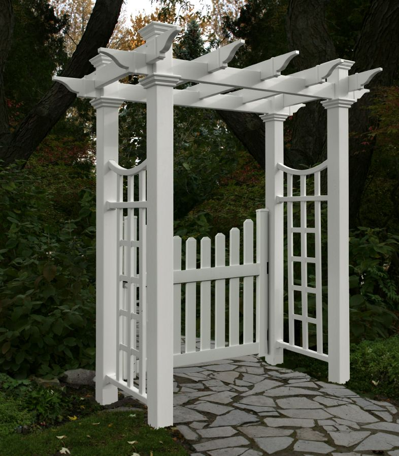 Unique Arbor Gate: Fairfield Deluxe Arbor With Gate By New England Arbors