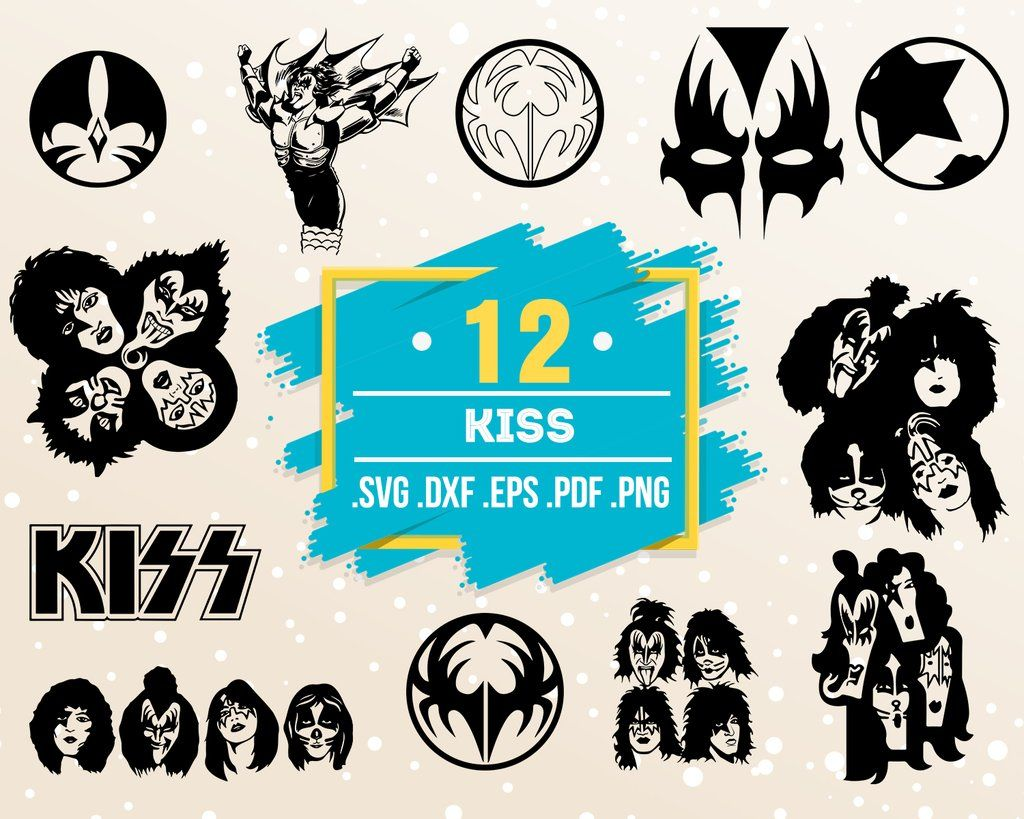 Kiss Svg Hard Rock Band Set Bundle Svg Metallica Acdc Kiss Heavy