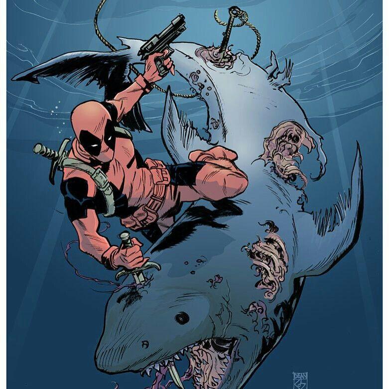 Great Shark x Deadpool