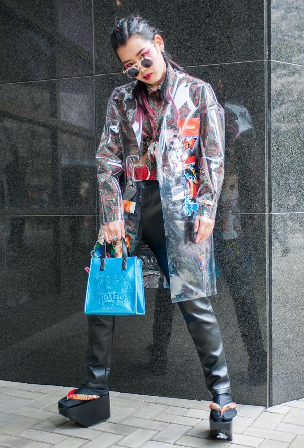 【キャンパス・パパラッチ DAILY】 写真やイラストをコラージュした自作のジャケットがインパクト大、田中優さん -文化服装学院入学式2017- http://soen.tokyo/paparazzi/daily/daily383/