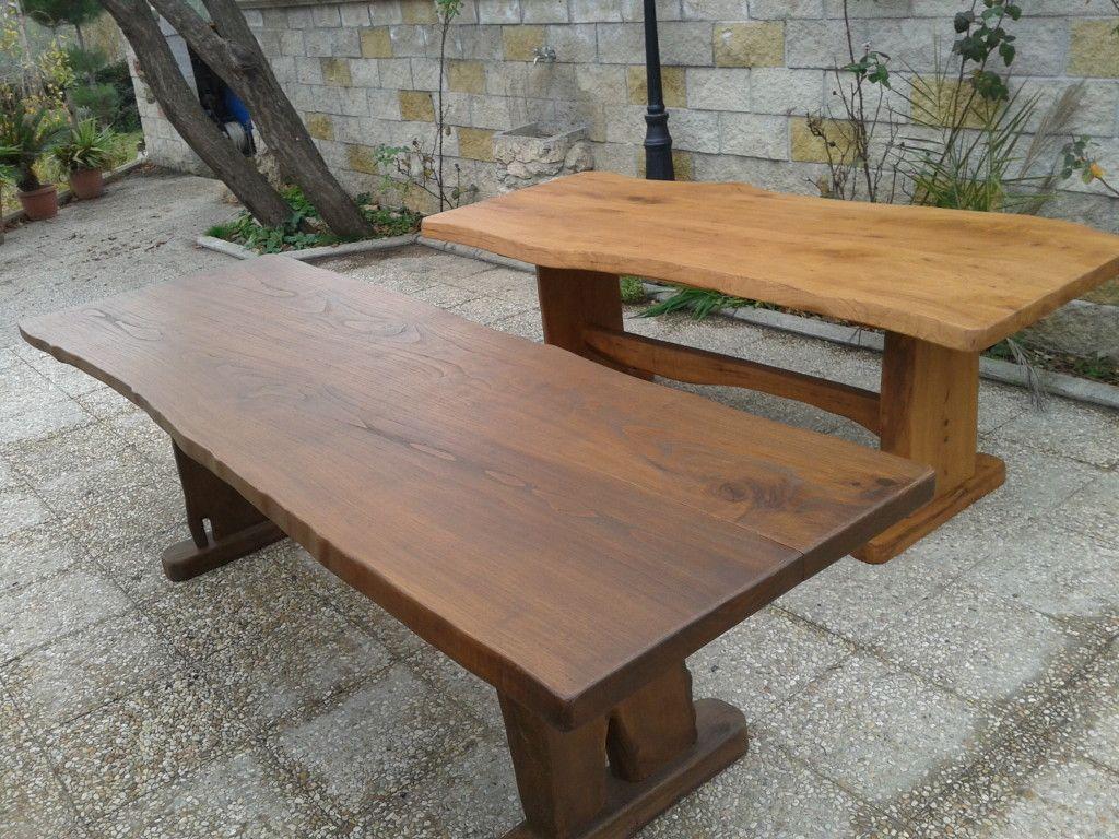 Tavolo in legno di castagno massello arredamento for Tavolo legno esterno