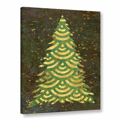 The Holiday Aisle® Xmas Tree Garland IV is a gorgeous reproduction featuring a beautiful gold leaf Christmas tree. A wonderful conversation piece that will compliment any home or office. Size: 24