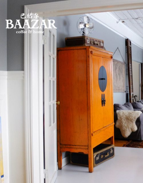 Antikt brudskåp, orange A 65 | Möbler, Inredning, Skåp
