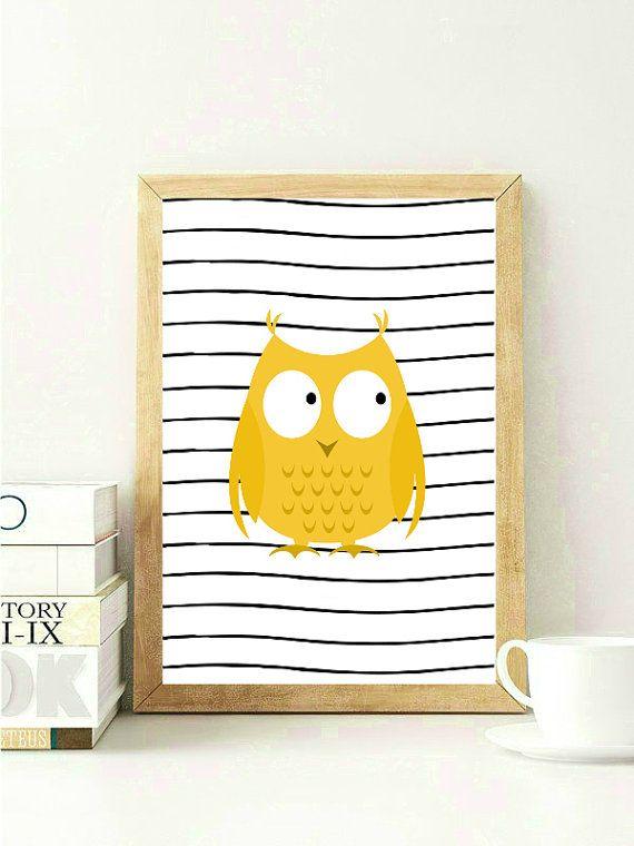 Yellow Nursery Print Nursery Wall Decor Animal Nursery | Nursery ...