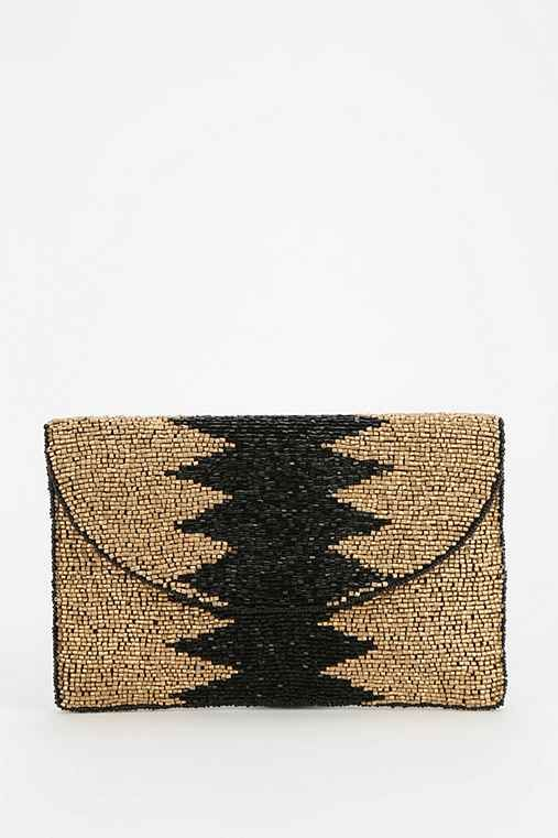 From St. Xavier Wamika Beaded Clutch - Urban Outfitters