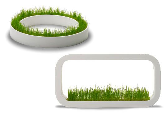 METAPHYS INDOOR GRASS PLANTERS FROM TOKYO is part of Indoor planters, Planter boxes, Cat grass planter, Planters, Grass, Indoor garden - With the goal to bring the lawn indoors, Tokyo based product designer Chiaki Murata of Metaphys has designed a stylish product range of stackable white mod grass planters  The Factory product range brings the natural world indoors in style  The individual