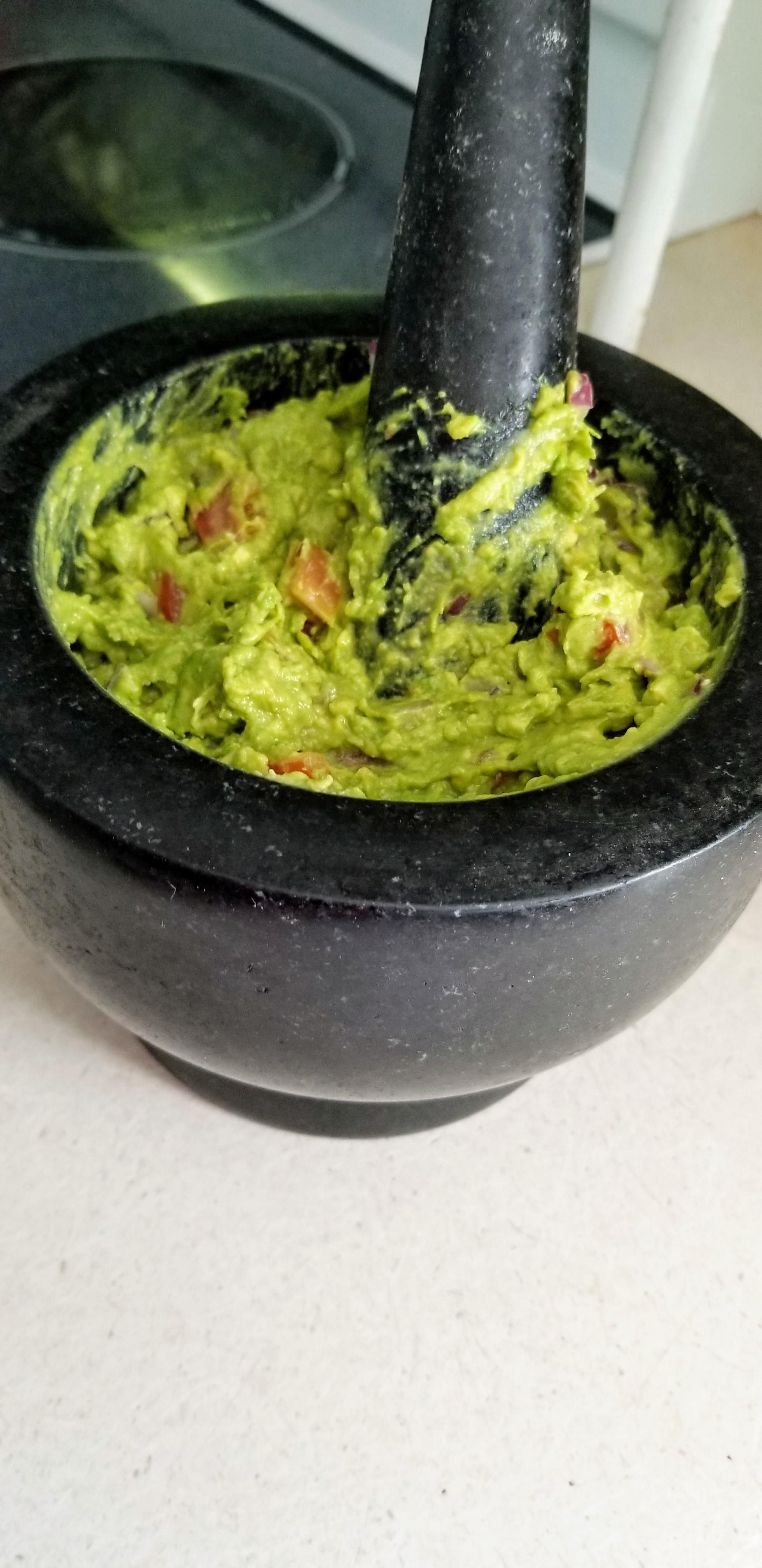 Homemade guacamole in mortar and pestle yummy pinterest homemade guacamole in mortar and pestle forumfinder Image collections