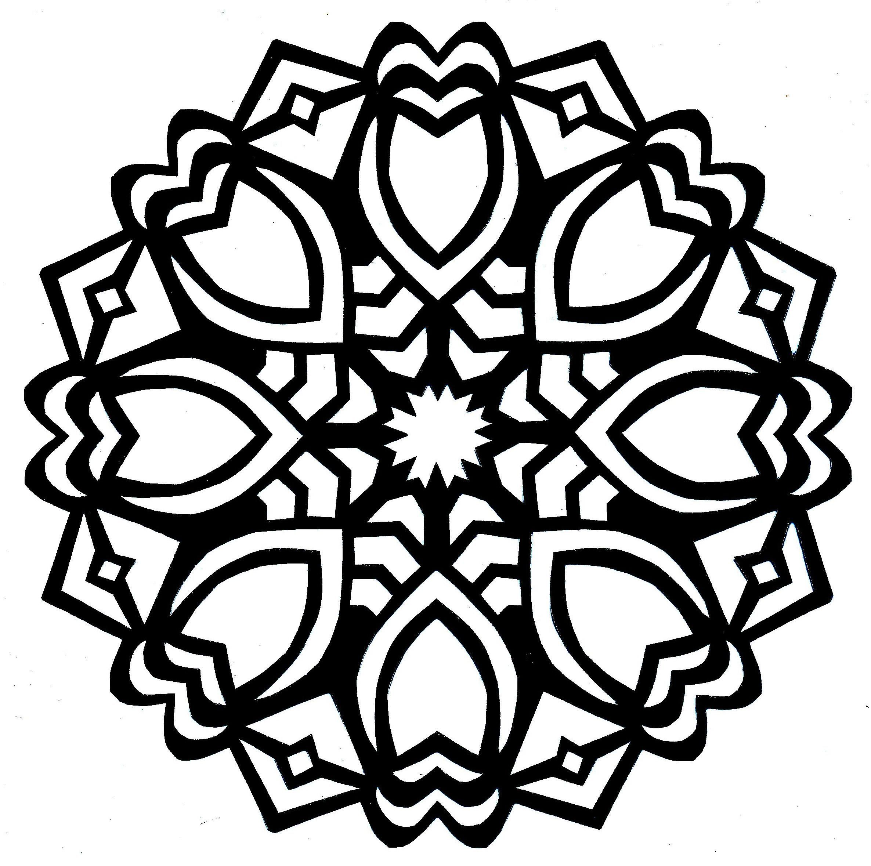 simple mandala coloring pages - Google Search | Mandala ...