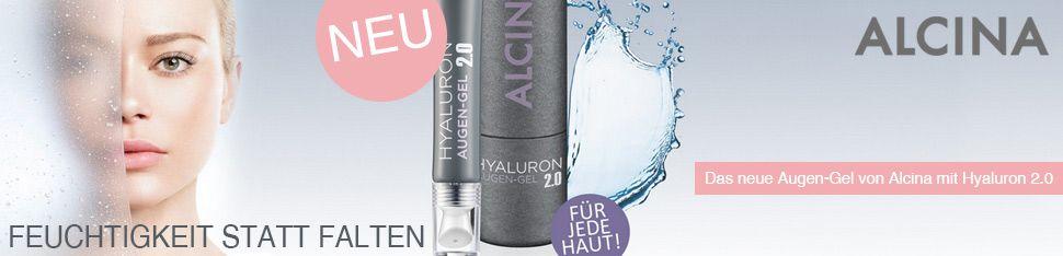 Feuchtigkeitsspendendes Augen-Gel mit Hyaluron  http://www.hair-shop24.net/alcina-kosmetik-effekt-pflege.html