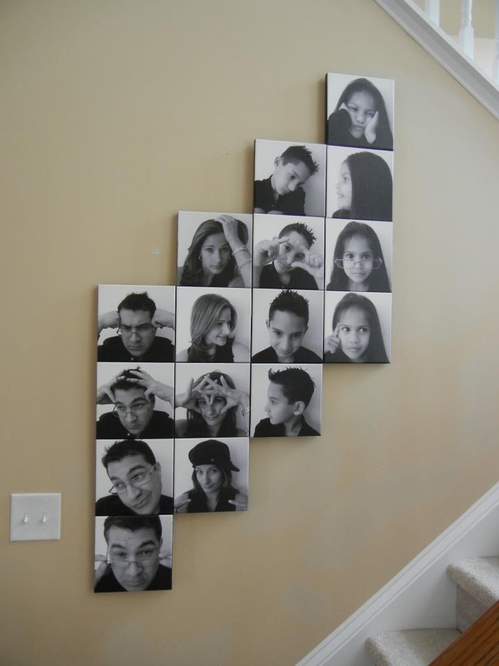 20 Buenas Ideas Para Decorar La Casa Con Fotografias Familiares Decoracion De Unas Decoracion Fotos Pared Galerias De Pared