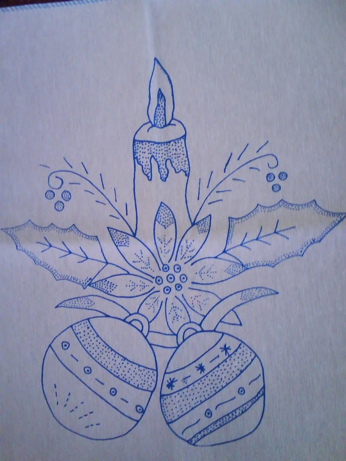 Hermoso bordar ideas de costura christmas embroidery - Motivos navidenos para pintar en tela ...