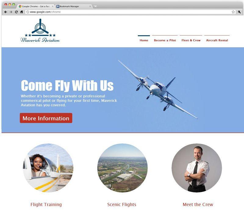 Flight School Wix templates, Wix website templates