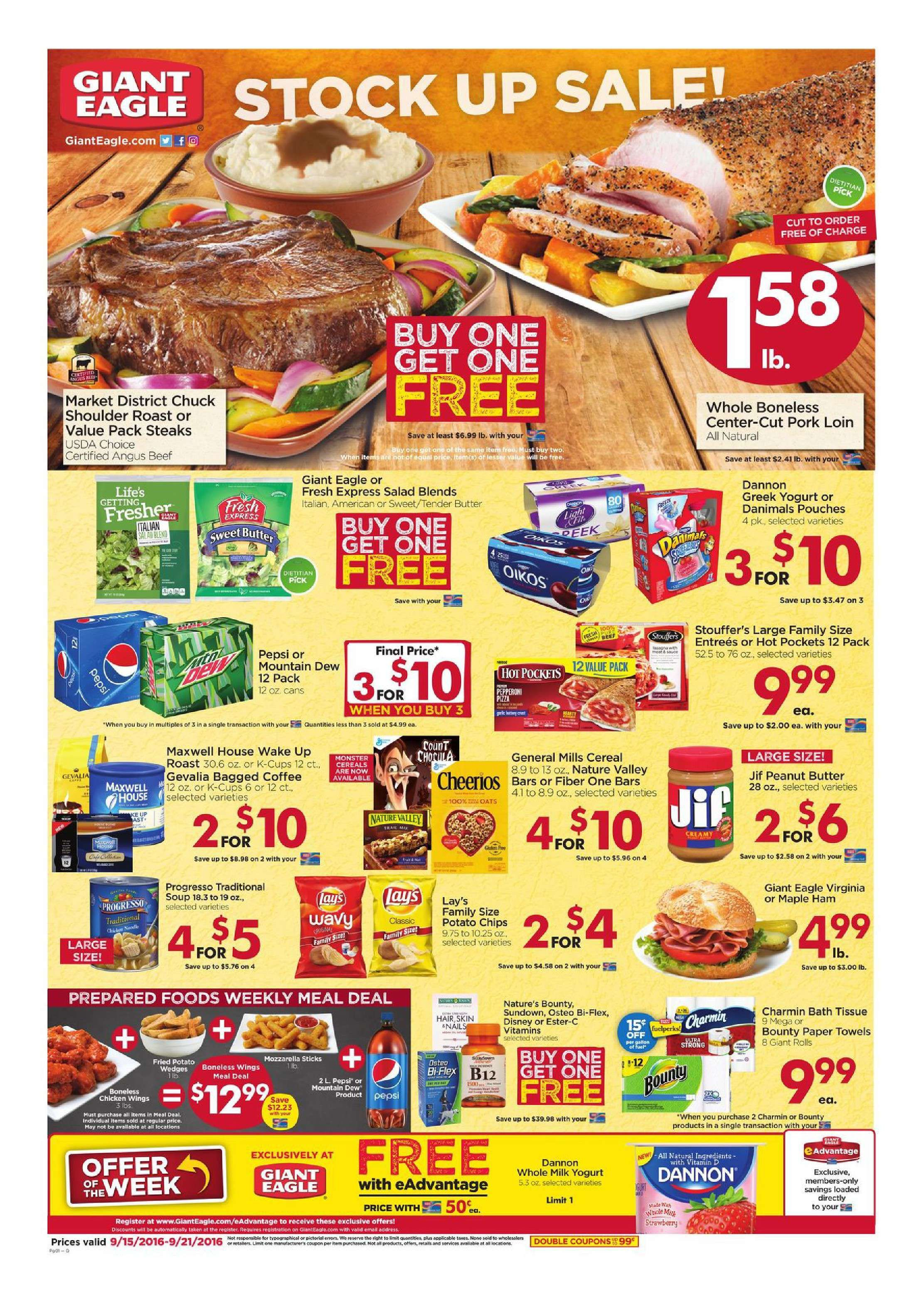 Giant eagle weekly ad september 26 october 2 2019