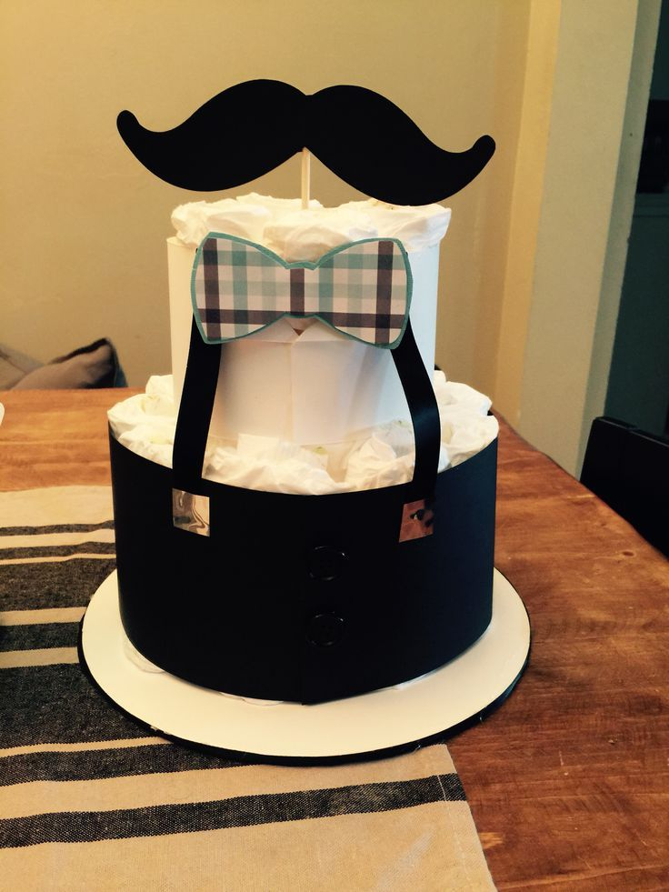Little Man Mini Diaper Cake More Mustache Baby Shower Baby