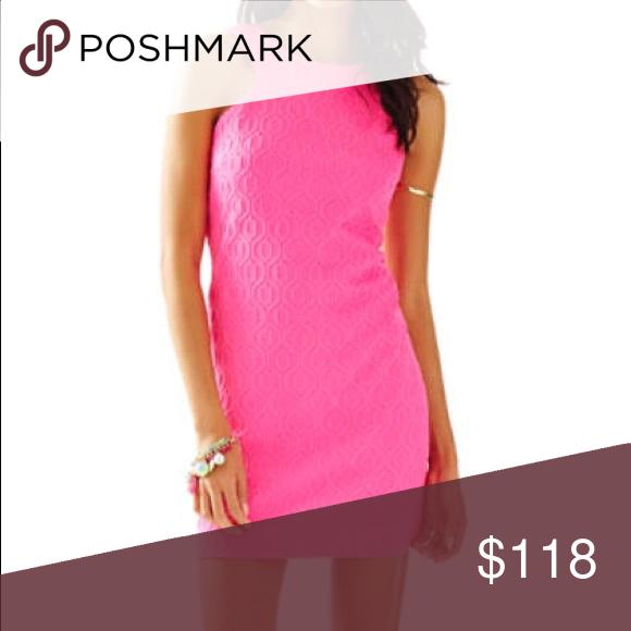Lilly Pulitzer Mango Shift Dress Tropical Pink Retro Knit Jacquard Size S New