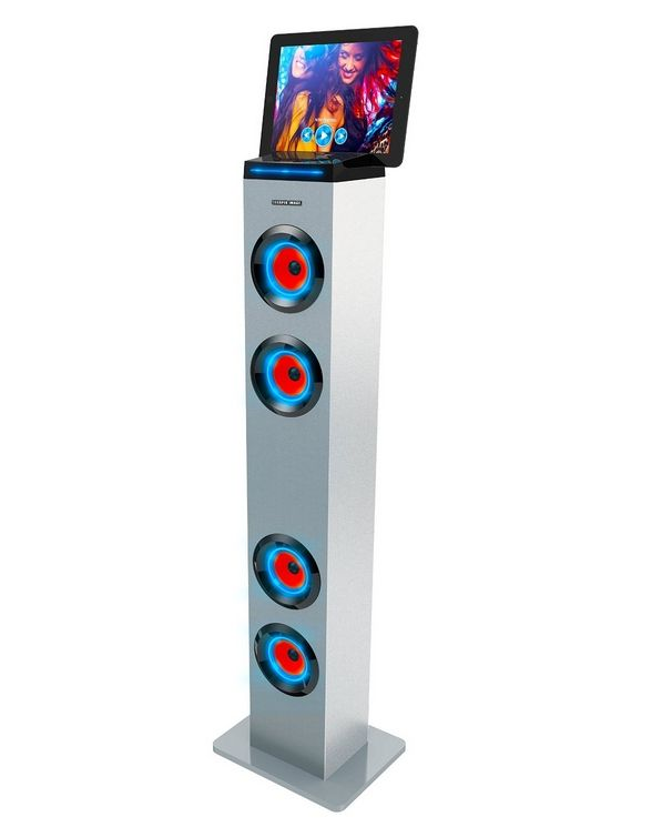 Bluetooth Tall Tower Stereo Speaker With Led Lights Tower Speakers Stereo Speakers Bluetooth