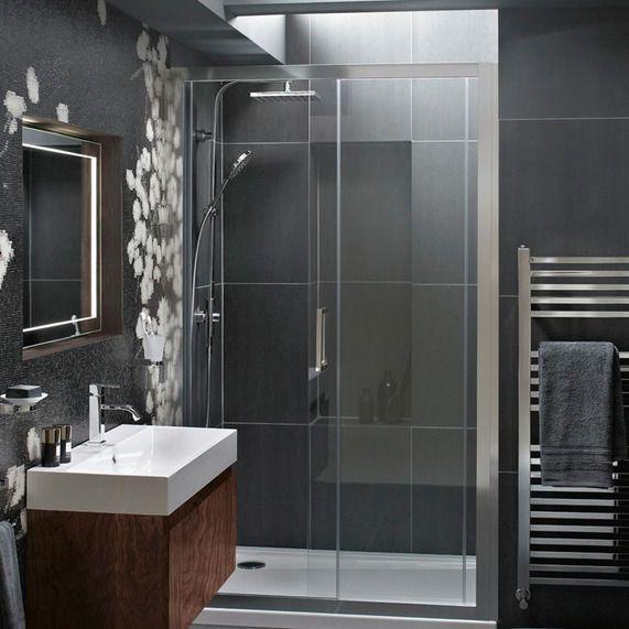 Atlas 1200mm Shower Enclosure Sliding Door Sliding Shower Door