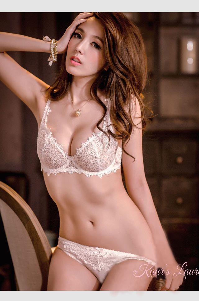 Asian white bra