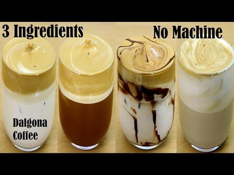 4 Easy Dalgona Coffee Recipe Frothy coffee Cappuccino