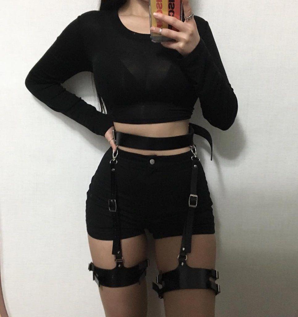 Gothic Waist Thigh Harness