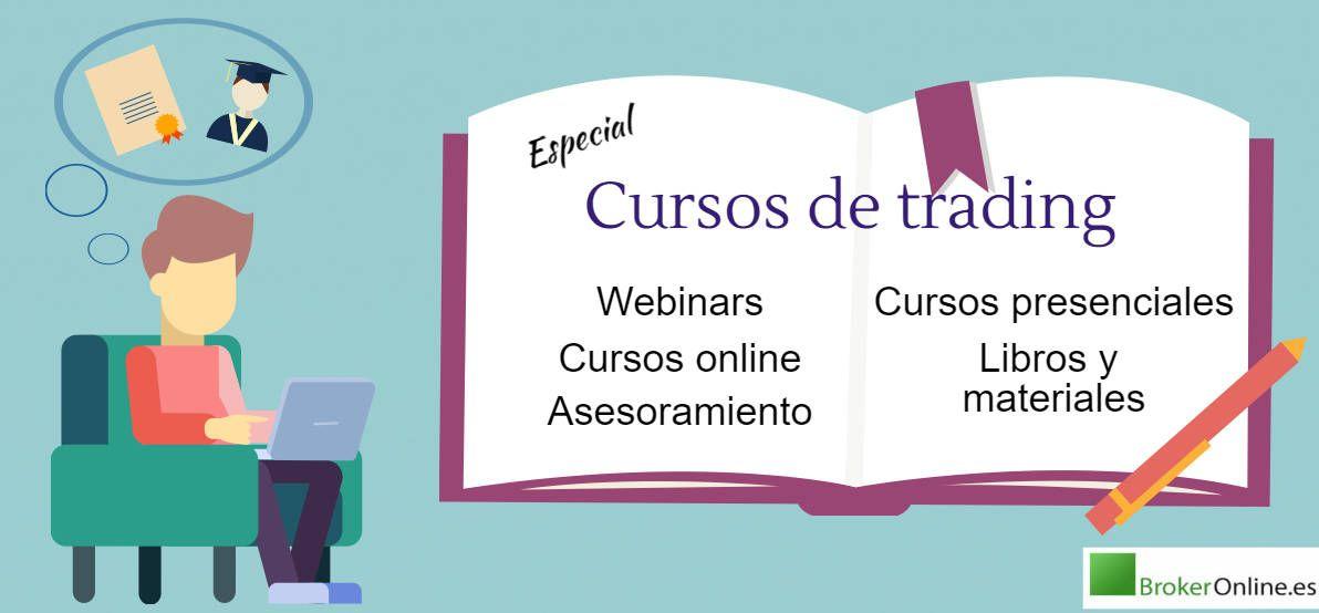 infografía que reza: mejores cursos de trading