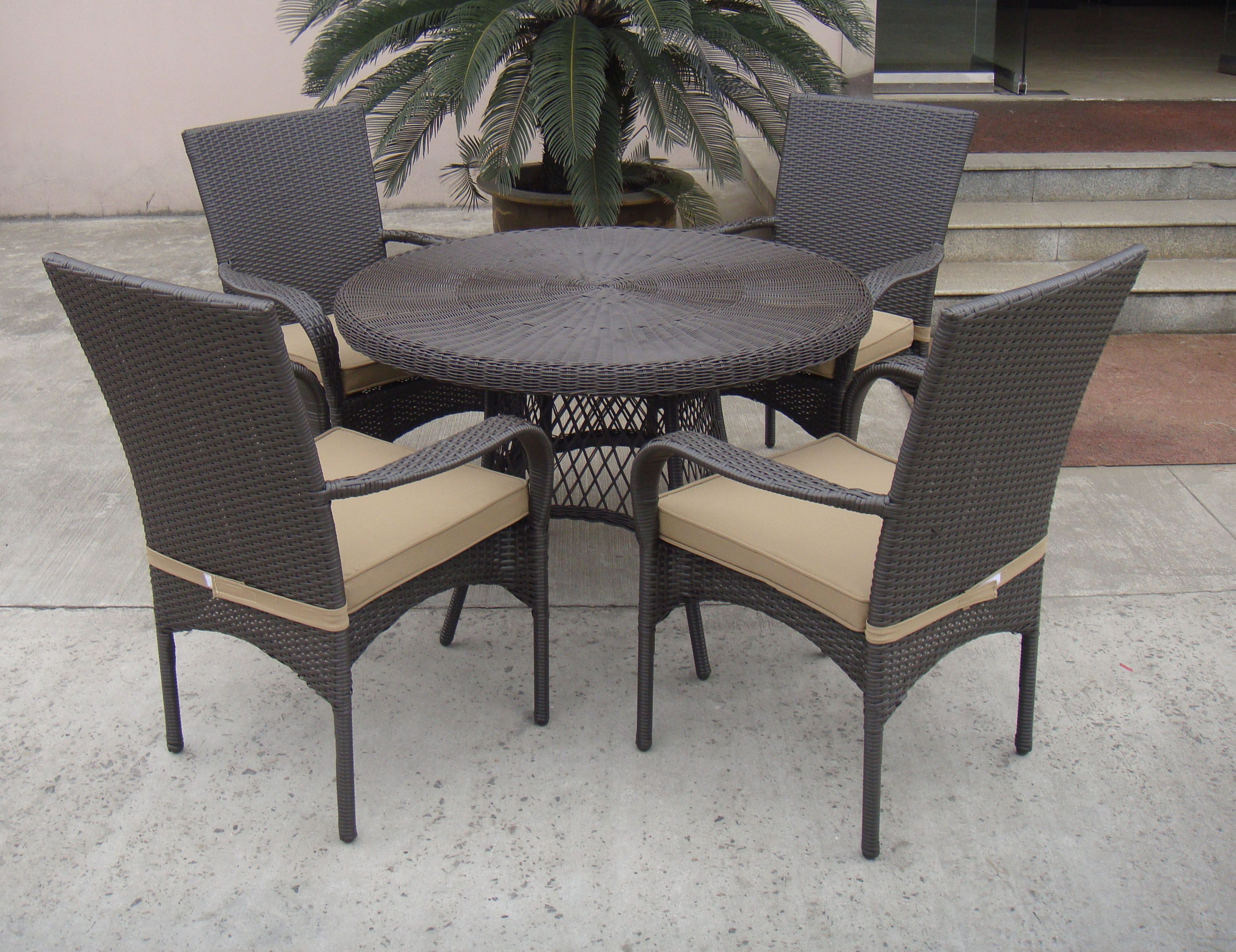 tg 9416 outdoor patio wicker rattan coffee table and chair from