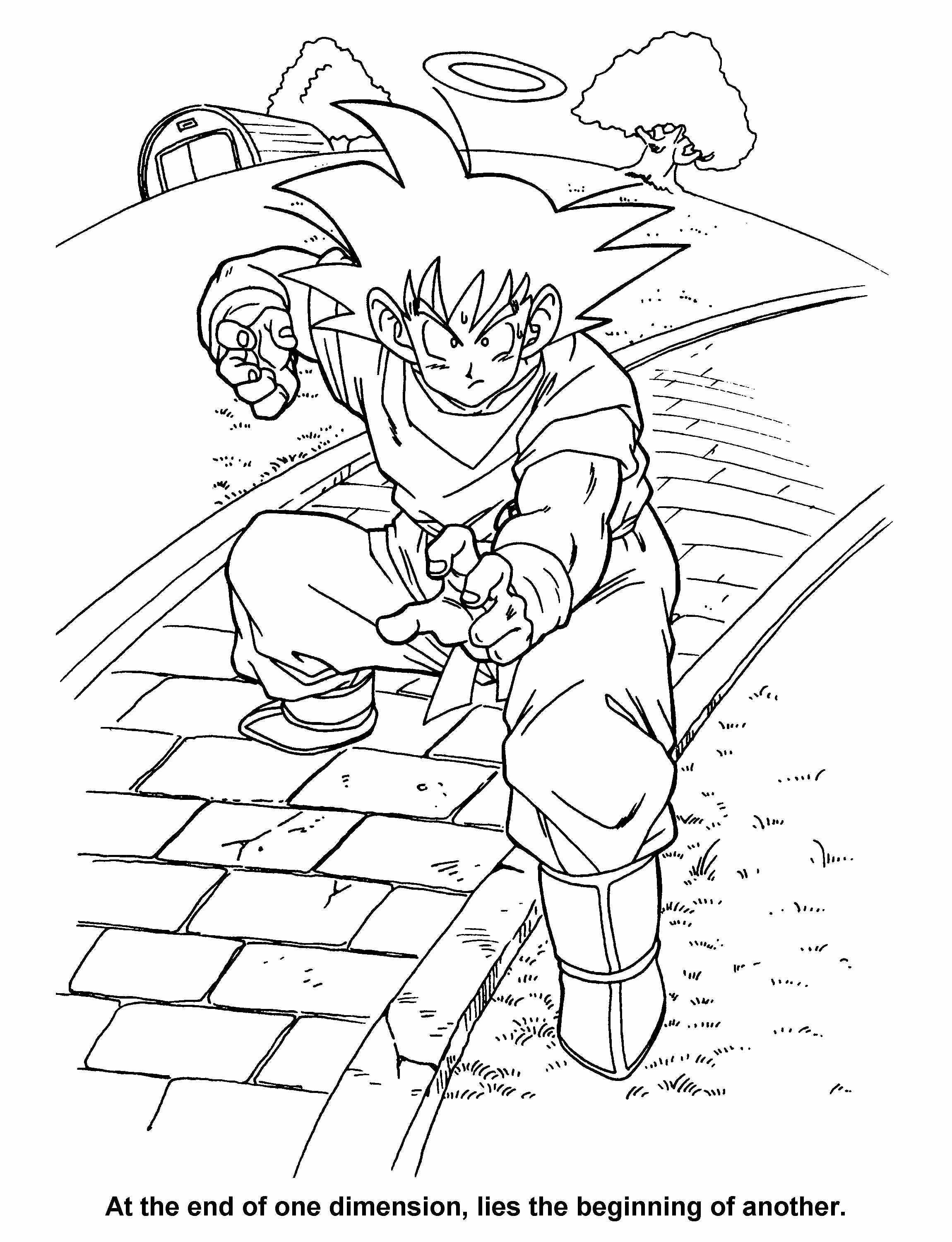 dragon ball z coloring pages super saiyan 4 | manga coloring pages ...