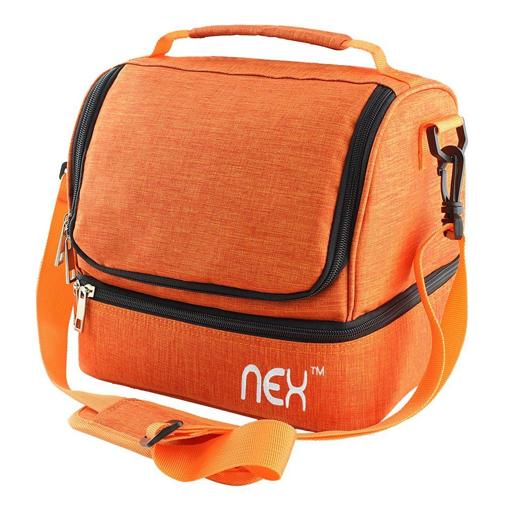 Amazon nex lunch bag double cooler carry bag insulated tote