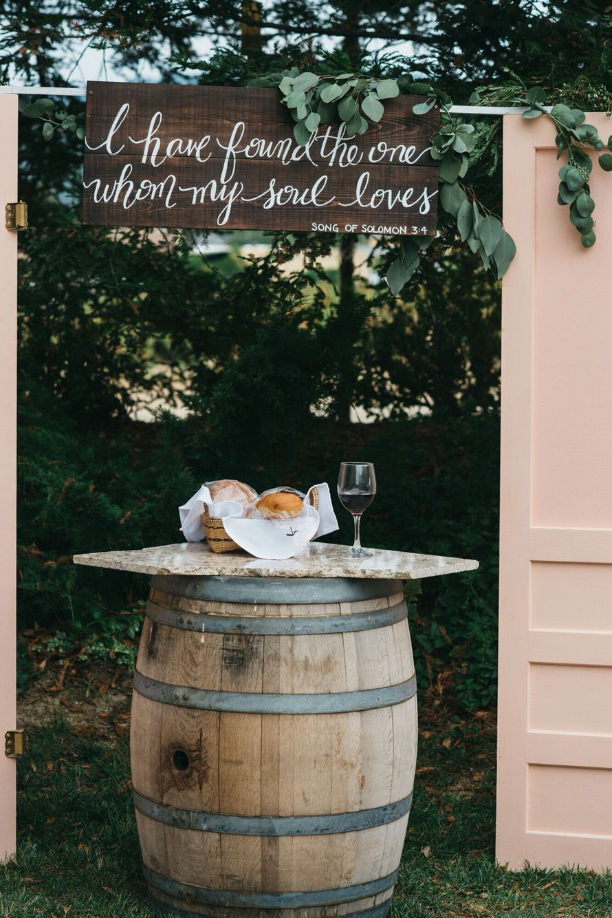Southern Rustic Chic Wedding Song Of Solomon Communion Table