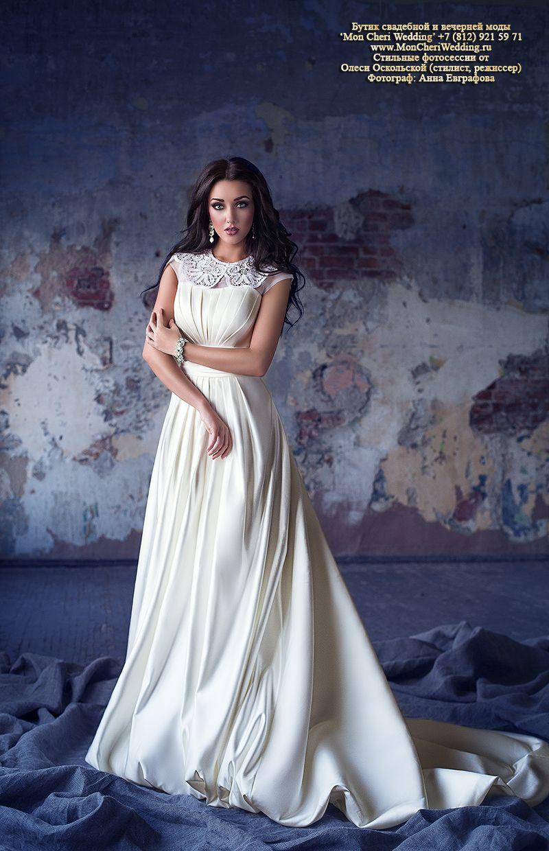 Олеся в свадебном платье