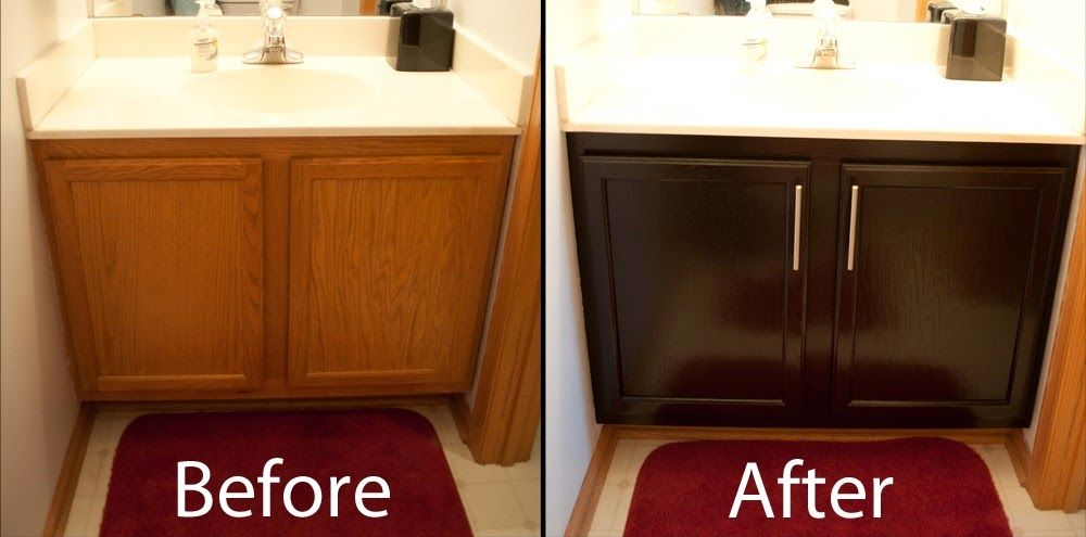 Restaining Kitchen Cabinets Before and After | DIY Stuff ...
