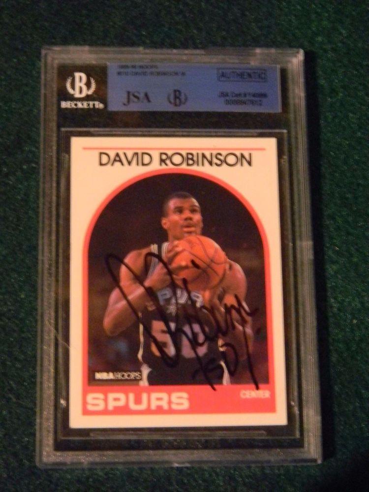 198990 nba hoops 310 david robinson ia autographed